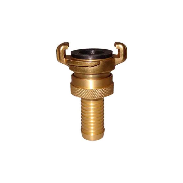 Schraubkupplung mit Schlauchtülle System GEKA, Messing