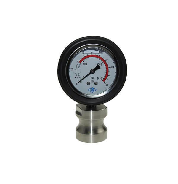 Ersatzmanometer, Glyzeringefülltes Manometer aus Edelstahl