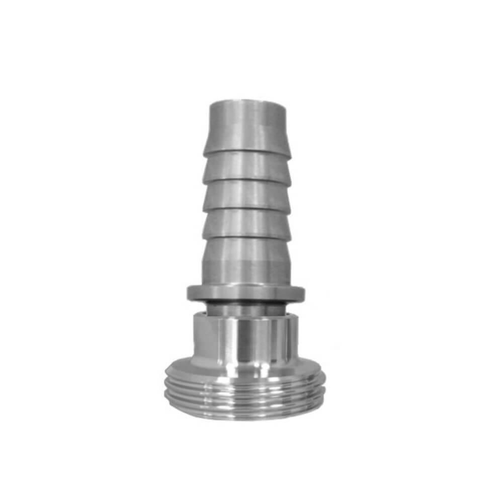 Milchrohrverschraubung, Vaterteilstutzen, DIN 11851 für Dampfschlauch, Rillenstutzen, Sicherungsbund
