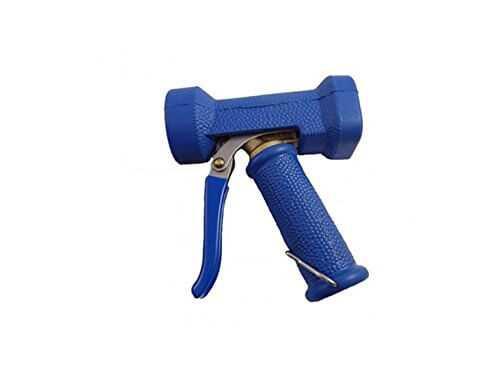 Wassersparventil mit blauer Silikon Gummierung mit BSPP Innengewinde